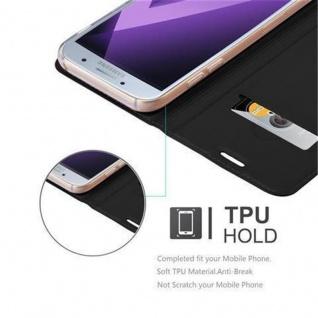 Cadorabo Hülle für Samsung Galaxy A3 2017 in CLASSY SCHWARZ - Handyhülle mit Magnetverschluss, Standfunktion und Kartenfach - Case Cover Schutzhülle Etui Tasche Book Klapp Style - Vorschau 2