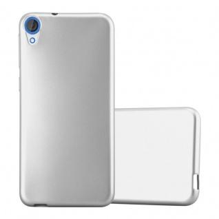Cadorabo Hülle für HTC DESIRE 820 in METALLIC SILBER - Handyhülle aus flexiblem TPU Silikon - Silikonhülle Schutzhülle Ultra Slim Soft Back Cover Case Bumper
