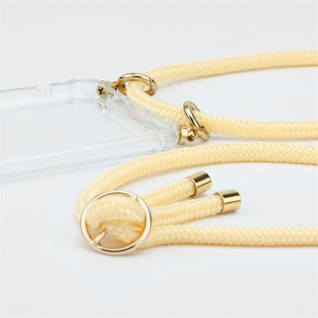 Cadorabo Handy Kette für Nokia 1 PLUS in CREME BEIGE Silikon Necklace Umhänge Hülle mit Gold Ringen, Kordel Band Schnur und abnehmbarem Etui Schutzhülle - Vorschau 3