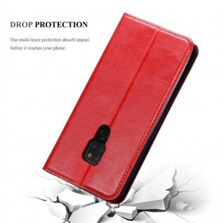 Cadorabo Hülle für Huawei MATE 20 in APFEL ROT Handyhülle mit Magnetverschluss, Standfunktion und Kartenfach Case Cover Schutzhülle Etui Tasche Book Klapp Style - Vorschau 5