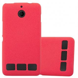 Cadorabo Hülle für Sony Xperia E1 in FROST ROT - Handyhülle aus flexiblem TPU Silikon - Silikonhülle Schutzhülle Ultra Slim Soft Back Cover Case Bumper