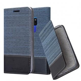 Cadorabo Hülle für Huawei MATE 20 in DUNKEL BLAU SCHWARZ - Handyhülle mit Magnetverschluss, Standfunktion und Kartenfach - Case Cover Schutzhülle Etui Tasche Book Klapp Style