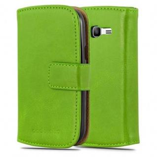 Cadorabo Hülle für Samsung Galaxy TREND LITE in GRAS GRÜN ? Handyhülle mit Magnetverschluss, Standfunktion und Kartenfach ? Case Cover Schutzhülle Etui Tasche Book Klapp Style