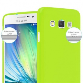 Cadorabo Hülle für Samsung Galaxy A3 2015 in JELLY GRÜN - Handyhülle aus flexiblem TPU Silikon - Silikonhülle Schutzhülle Ultra Slim Soft Back Cover Case Bumper - Vorschau 3