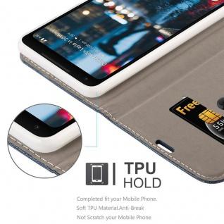 Cadorabo Hülle für Google Pixel 2 XL in DUNKEL BLAU SCHWARZ - Handyhülle mit Magnetverschluss, Standfunktion und Kartenfach - Case Cover Schutzhülle Etui Tasche Book Klapp Style - Vorschau 3