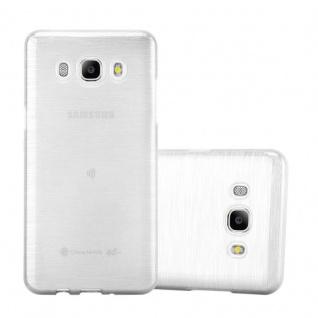 Cadorabo Hülle für Samsung Galaxy J5 2016 in SILBER - Handyhülle aus flexiblem TPU Silikon - Silikonhülle Schutzhülle Ultra Slim Soft Back Cover Case Bumper