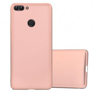 Cadorabo Hülle für Huawei P SMART / Enjoy 7S in METALL ROSÉ GOLD Hardcase Handyhülle aus Plastik gegen Kratzer und Stöße Schutzhülle Bumper Ultra Slim Back Case Hard Cover