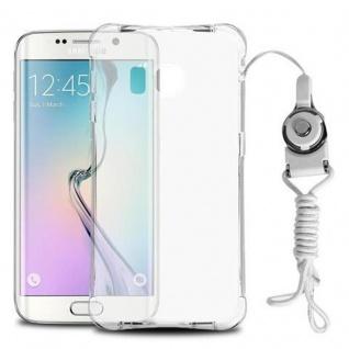 Cadorabo Hülle für Samsung Galaxy S6 EDGE - Hülle in KOMPLETT TRANSPARENT - Handyhülle aus TPU Silikon mit Schlaufe im Small Waist Design - Silikonhülle Schutzhülle Ultra Slim Soft Back Cover Case Bumper