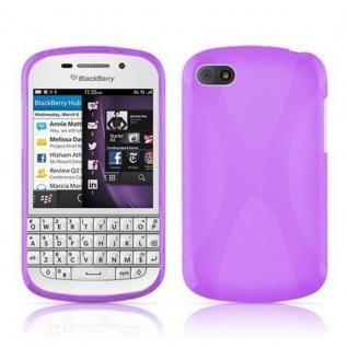 Cadorabo Hülle für Blackberry Q10 - Hülle in FLIEDER VIOLETT ? Handyhülle aus flexiblem TPU Silikon im X-Line Design - Ultra Slim Soft Backcover Case Bumper