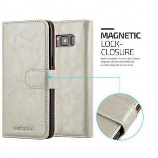 Cadorabo Hülle für Samsung Galaxy S8 PLUS in CAPPUCCINO BRAUN ? Handyhülle mit Magnetverschluss, Standfunktion und Kartenfach ? Case Cover Schutzhülle Etui Tasche Book Klapp Style - Vorschau 2