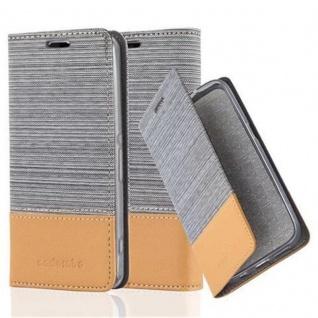 Cadorabo Hülle für Sony Xperia Z1 COMPACT in HELL GRAU BRAUN - Handyhülle mit Magnetverschluss, Standfunktion und Kartenfach - Case Cover Schutzhülle Etui Tasche Book Klapp Style