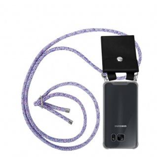 Cadorabo Handy Kette für Samsung Galaxy S7 in UNICORN - Silikon Necklace Umhänge Hülle mit Silber Ringen, Kordel Band Schnur und abnehmbarem Etui - Schutzhülle