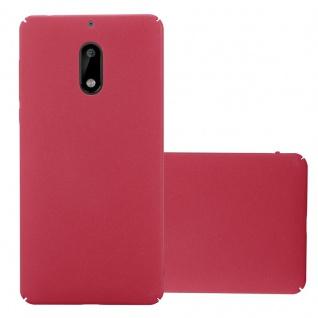 Cadorabo Hülle für Nokia 6 2017 in FROSTY ROT Hardcase Handyhülle aus Plastik gegen Kratzer und Stöße Schutzhülle Bumper Ultra Slim Back Case Hard Cover