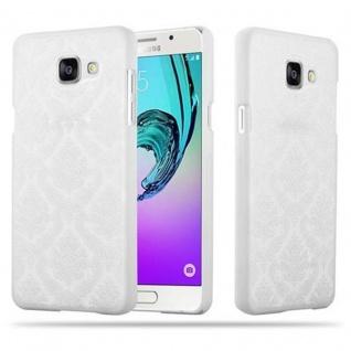 Samsung Galaxy A5 2016 Hardcase Hülle in WEIß von Cadorabo - Blumen Paisley Henna Design Schutzhülle ? Handyhülle Bumper Back Case Cover