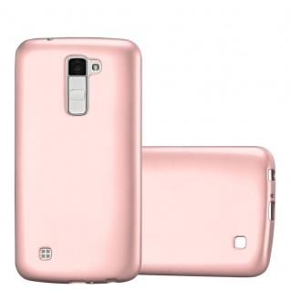 Cadorabo Hülle für LG K10 2016 in METALLIC ROSÉ GOLD - Handyhülle aus flexiblem TPU Silikon - Silikonhülle Schutzhülle Ultra Slim Soft Back Cover Case Bumper