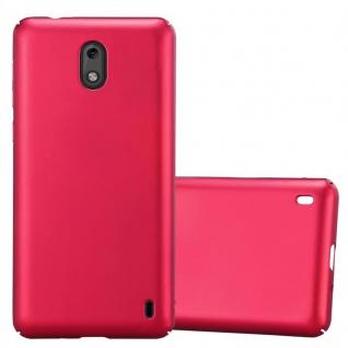 Cadorabo Hülle für Nokia 2 2017 in METALL ROT Hardcase Handyhülle aus Plastik gegen Kratzer und Stöße Schutzhülle Bumper Ultra Slim Back Case Hard Cover