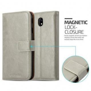 Cadorabo Hülle für Samsung Galaxy J7 2017 in CAPPUCCINO BRAUN ? Handyhülle mit Magnetverschluss, Standfunktion und Kartenfach ? Case Cover Schutzhülle Etui Tasche Book Klapp Style - Vorschau 2
