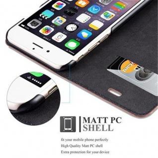 Cadorabo Hülle für Apple iPhone 6 PLUS / iPhone 6S PLUS in CAPPUCCINO BRAUN - Handyhülle mit Magnetverschluss, Standfunktion und Kartenfach - Case Cover Schutzhülle Etui Tasche Book Klapp Style - Vorschau 3