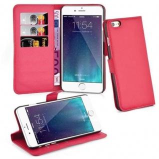 Cadorabo ! PREMIUM - Book Style Hülle im Portemonnaie Design für Apple Iphone 6 PLUS mit Standfunktion in KARMIN-ROT