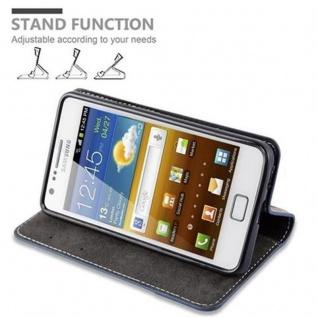 Cadorabo Hülle für Samsung Galaxy S2 / S2 PLUS in DUNKEL BLAU BRAUN ? Handyhülle mit Magnetverschluss, Standfunktion und Kartenfach ? Case Cover Schutzhülle Etui Tasche Book Klapp Style - Vorschau 5