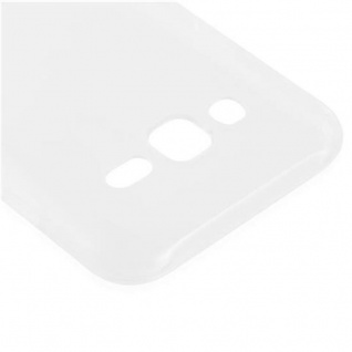 Cadorabo Hülle für Samsung Galaxy J3 2015 in VOLL TRANSPARENT - Handyhülle aus flexiblem TPU Silikon - Silikonhülle Schutzhülle Ultra Slim Soft Back Cover Case Bumper - Vorschau 4