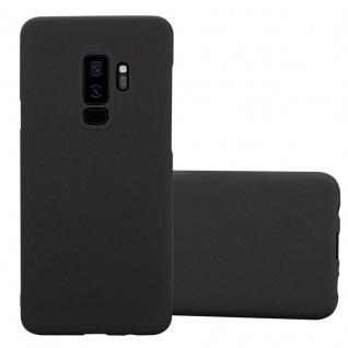 Cadorabo Hülle für Samsung Galaxy S9 PLUS in FROSTY SCHWARZ - Hardcase Handyhülle aus Plastik gegen Kratzer und Stöße - Schutzhülle Bumper Ultra Slim Back Case Hard Cover