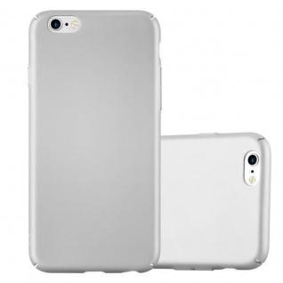 Cadorabo Hülle für Apple iPhone 6 / iPhone 6S in METALL SILBER - Hardcase Handyhülle aus Plastik gegen Kratzer und Stöße - Schutzhülle Bumper Ultra Slim Back Case Hard Cover