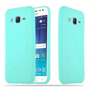 Cadorabo Hülle für Samsung Galaxy J2 2015 in CANDY BLAU - Handyhülle aus flexiblem TPU Silikon - Silikonhülle Schutzhülle Ultra Slim Soft Back Cover Case Bumper
