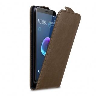 Cadorabo Hülle für HTC Desire 12 in KAFFEE BRAUN - Handyhülle im Flip Design mit Magnetverschluss - Case Cover Schutzhülle Etui Tasche Book Klapp Style