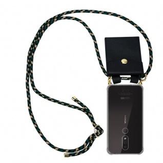 Cadorabo Handy Kette für Nokia 4.2 in CAMOUFLAGE Silikon Necklace Umhänge Hülle mit Gold Ringen, Kordel Band Schnur und abnehmbarem Etui Schutzhülle