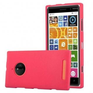 Cadorabo Hülle für Nokia Lumia 830 in FROST ROT - Handyhülle aus flexiblem TPU Silikon - Silikonhülle Schutzhülle Ultra Slim Soft Back Cover Case Bumper