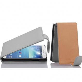 Cadorabo Hülle für Samsung Galaxy MEGA 5.8 in MAGNESIUM WEIß - Handyhülle im Flip Design aus strukturiertem Kunstleder - Case Cover Schutzhülle Etui Tasche Book Klapp Style