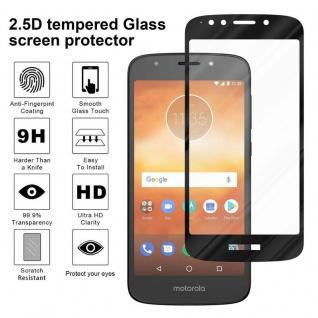 Cadorabo Vollbild Panzer Folie für Motorola MOTO E5 PLAY - Schutzfolie in TRANSPARENT mit SCHWARZ - Gehärtetes (Tempered) Display-Schutzglas in 9H Härte mit 3D Touch Kompatibilität - Vorschau 4