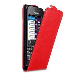Cadorabo Hülle für Blackberry Q10 in APFEL ROT Handyhülle im Flip Design mit Magnetverschluss Case Cover Schutzhülle Etui Tasche Book Klapp Style