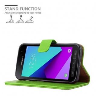 Cadorabo Hülle für Samsung Galaxy Xcover 4 in GRAS GRÜN ? Handyhülle mit Magnetverschluss, Standfunktion und Kartenfach ? Case Cover Schutzhülle Etui Tasche Book Klapp Style - Vorschau 5