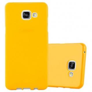 Cadorabo Hülle für Samsung Galaxy A3 2015 in JELLY GELB - Handyhülle aus flexiblem TPU Silikon - Silikonhülle Schutzhülle Ultra Slim Soft Back Cover Case Bumper