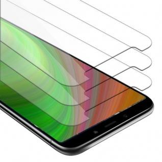 Cadorabo 3x Panzer Folie für Xiaomi Mi A2 / 6X - Schutzfolie in KRISTALL KLAR - 3er Pack Gehärtetes (Tempered) Display-Schutzglas in 9H Härte mit 3D Touch Kompatibilität