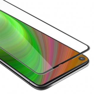 Cadorabo Vollbild Panzer Folie für Samsung Galaxy A9 PRO 2019 - Schutzfolie in TRANSPARENT mit SCHWARZ - Gehärtetes (Tempered) Display-Schutzglas in 9H Härte mit 3D Touch Kompatibilität