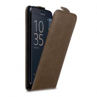 Cadorabo Hülle für Sony Xperia X COMPACT in KAFFEE BRAUN - Handyhülle im Flip Design mit Magnetverschluss - Case Cover Schutzhülle Etui Tasche Book Klapp Style
