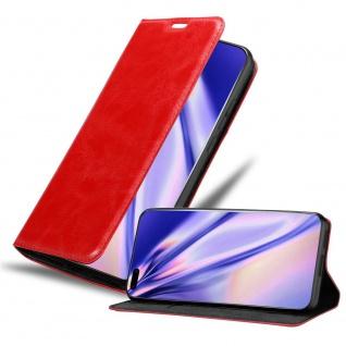 Cadorabo Hülle für Honor P40 pro + in APFEL ROT Handyhülle mit Magnetverschluss, Standfunktion und Kartenfach Case Cover Schutzhülle Etui Tasche Book Klapp Style