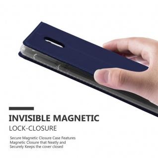 Cadorabo Hülle für Nokia 3 2017 in CLASSY DUNKEL BLAU - Handyhülle mit Magnetverschluss, Standfunktion und Kartenfach - Case Cover Schutzhülle Etui Tasche Book Klapp Style - Vorschau 5
