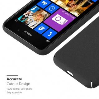 Cadorabo Hülle für Nokia Lumia 925 in FROSTY SCHWARZ - Hardcase Handyhülle aus Plastik gegen Kratzer und Stöße - Schutzhülle Bumper Ultra Slim Back Case Hard Cover - Vorschau 4