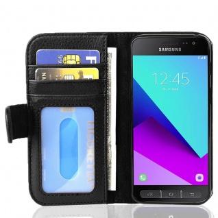 Cadorabo Hülle für Samsung Galaxy XCover 4 in OXID SCHWARZ ? Handyhülle mit Magnetverschluss und 3 Kartenfächern ? Case Cover Schutzhülle Etui Tasche Book Klapp Style
