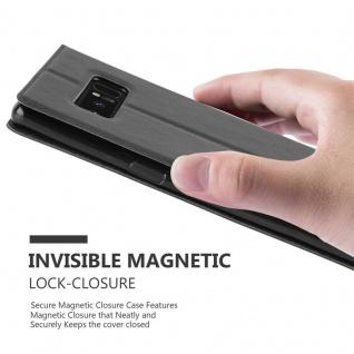 Cadorabo Hülle für Samsung Galaxy NOTE 8 in KOMETEN SCHWARZ ? Handyhülle mit Magnetverschluss, Standfunktion und 2 Sichtfenstern ? Case Cover Schutzhülle Etui Tasche Book Klapp Style - Vorschau 5