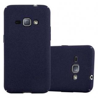 Cadorabo Hülle für Samsung Galaxy J1 2016 in FROSTY BLAU Hardcase Handyhülle aus Plastik gegen Kratzer und Stöße Schutzhülle Bumper Ultra Slim Back Case Hard Cover