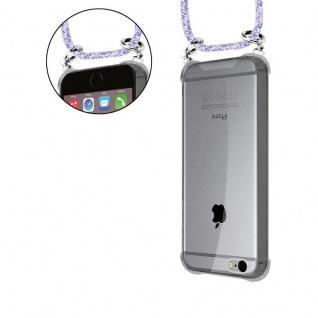 Cadorabo Handy Kette für Apple iPhone 6 PLUS / iPhone 6S PLUS in UNICORN - Silikon Necklace Umhänge Hülle mit Silber Ringen, Kordel Band Schnur und abnehmbarem Etui - Schutzhülle - Vorschau 5