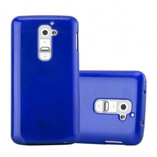 Cadorabo Hülle für LG G2 in BLAU Handyhülle aus flexiblem TPU Silikon Silikonhülle Schutzhülle Ultra Slim Soft Back Cover Case Bumper