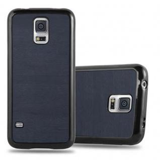 Cadorabo Hülle für Samsung Galaxy S5 / S5 NEO in WOODEN BLAU ? Handyhülle aus flexiblem TPU Silikon ? Silikonhülle Schutzhülle Ultra Slim Soft Back Cover Case Bumper