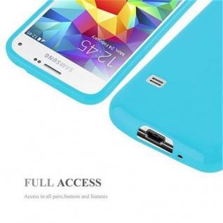 Cadorabo Hülle für Samsung Galaxy S5 MINI / S5 MINI DUOS in JELLY HELL BLAU - Handyhülle aus flexiblem TPU Silikon - Silikonhülle Schutzhülle Ultra Slim Soft Back Cover Case Bumper - Vorschau 4