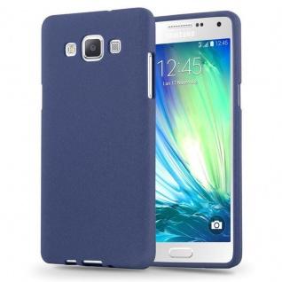 Cadorabo Hülle für Samsung Galaxy A3 2015 in FROST DUNKEL BLAU - Handyhülle aus flexiblem TPU Silikon - Silikonhülle Schutzhülle Ultra Slim Soft Back Cover Case Bumper